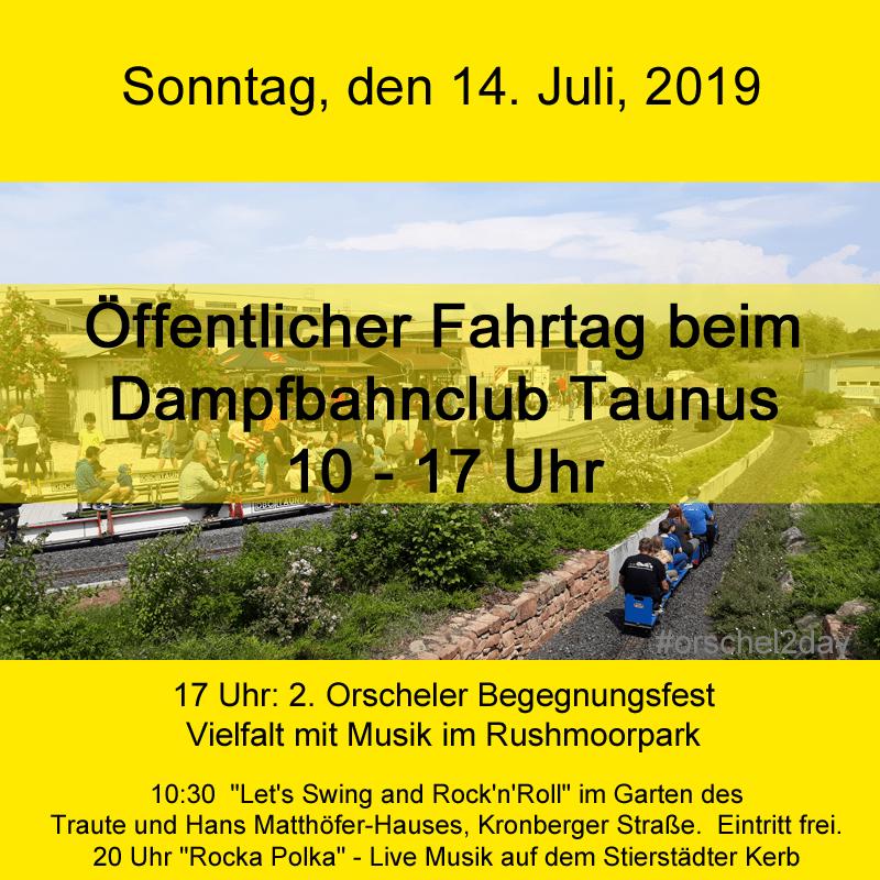 Sonntag, den 14. Juli, 2019