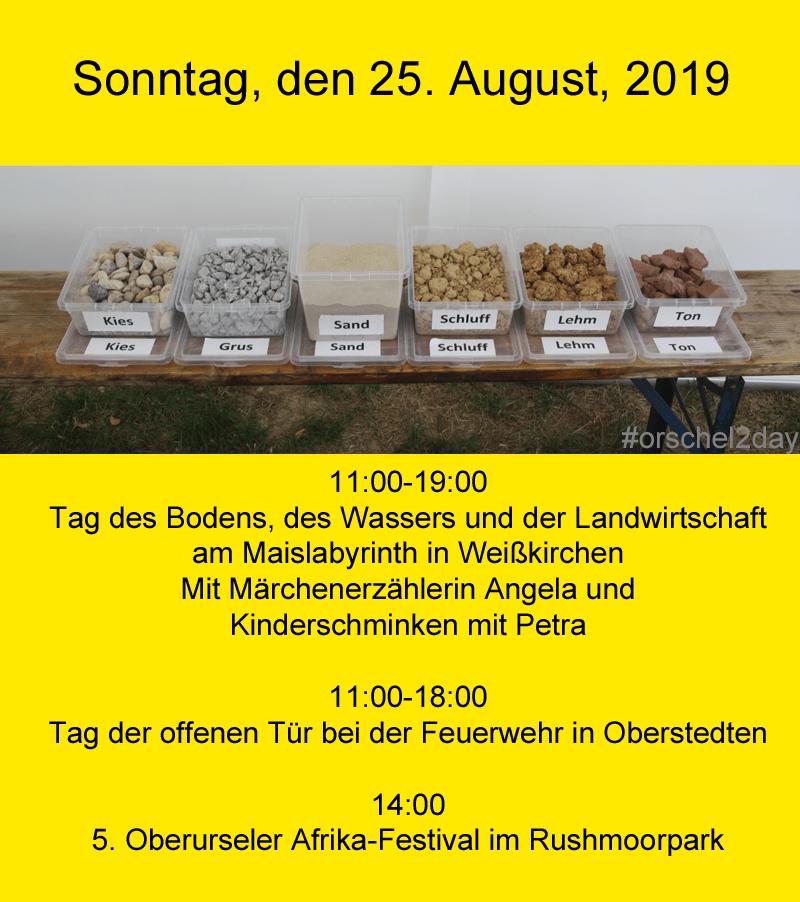Sonntag, den 25. August, 2019