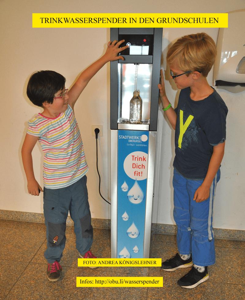 Trinkwasserspender in Oberurseler Grundschulen (Foto: Andrea Königslehner)