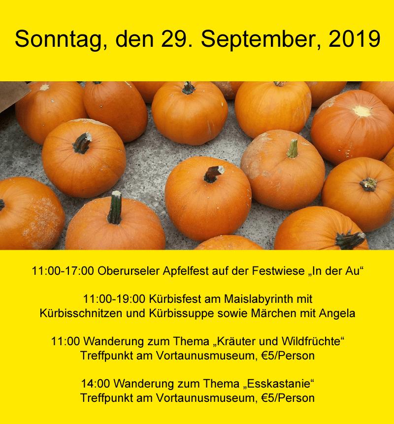 Sonntag, den 29. September, 2019