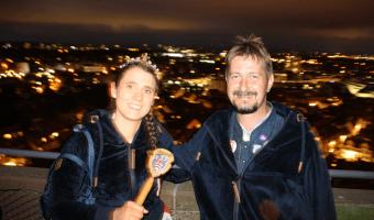 Brunnenkönigin Pia I. mit Brunnenmeister Mathias