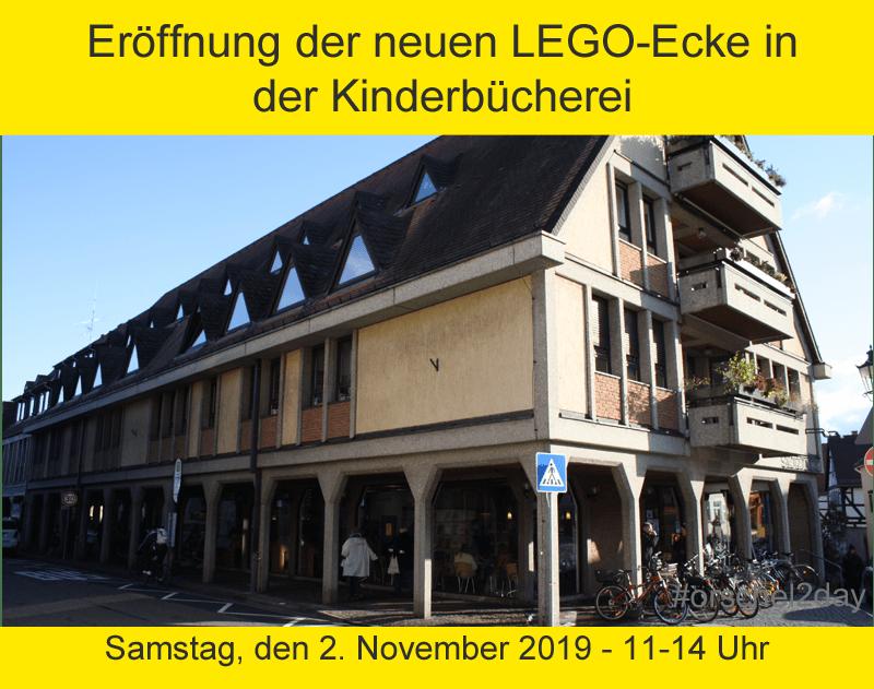 Eröffnung der neuen LEGO-Ecke in der Kinderbücherei