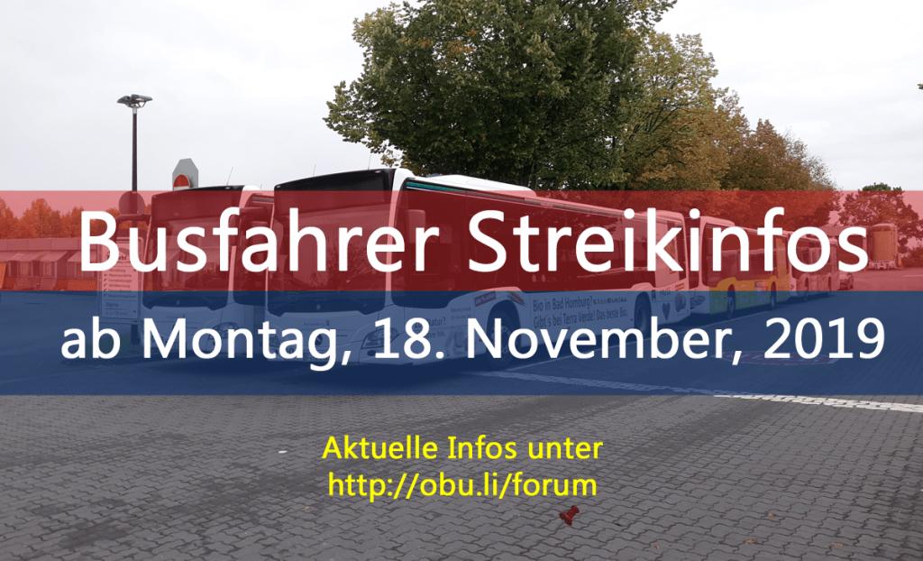 Busstreik ab dem 19. November 2019