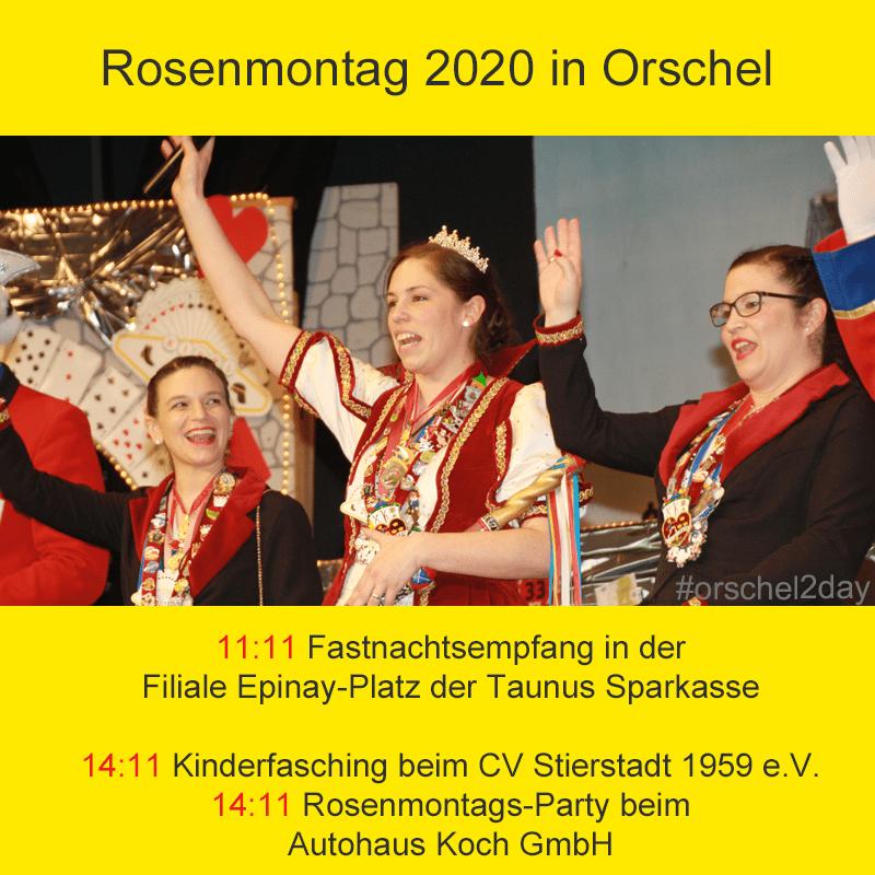 Rosenmontag 2020 in Orschel