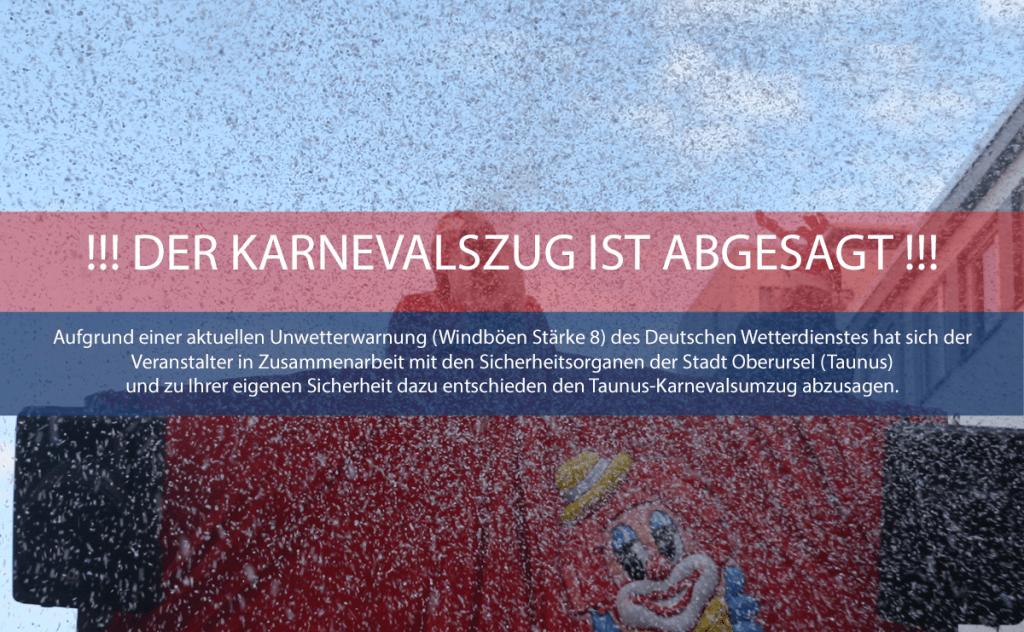 Der Karnevalsumzug ist abgesagt
