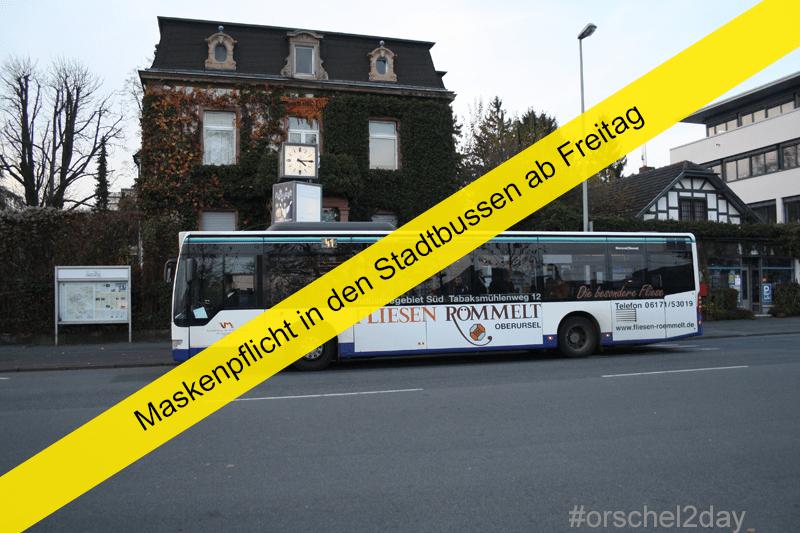 Wiedereinführung des Regelfahrplans bei den Tagesbuslinien - Maskenpflicht in den Stadtbussen Oberursel