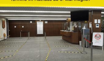Ab Montag können Termine im Rathaus vereinbart werden – Einwohnerservice bietet Online-Terminvergabe an