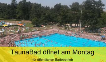 TaunaBad Oberursel öffnet am Montag für öffentlichen Badebetrieb