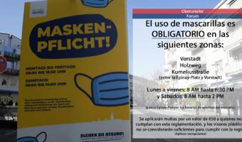 [ESPAÑOL] El uso de mascarillas es OBLIGATORIO en las siguientes zonas
