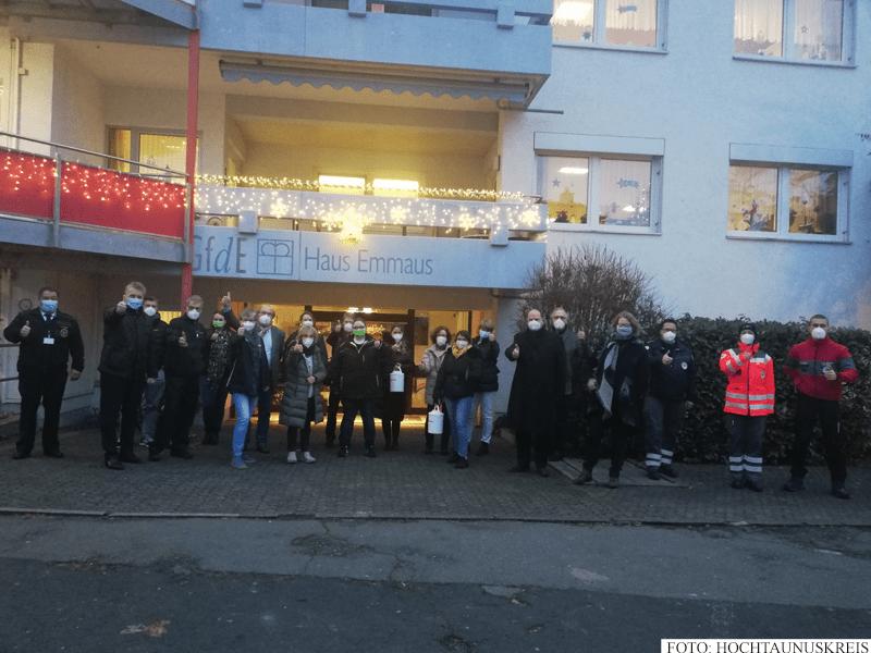 Mobiles Impfteam beim Alten- und Pflegeheim Haus Emmaus in Oberursel (Foto: Hochtaunuskreis)