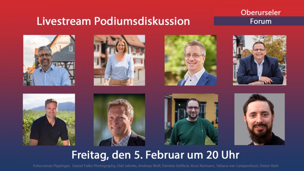 Livestream Podiumsdiskussion am 5. Februar 2021 um 20 Uhr